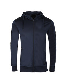 Fresh Couture Mens Blue Poly Taped Hoody