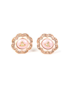 Vivienne Westwood Womens Pink Fiorella Stud Earrings