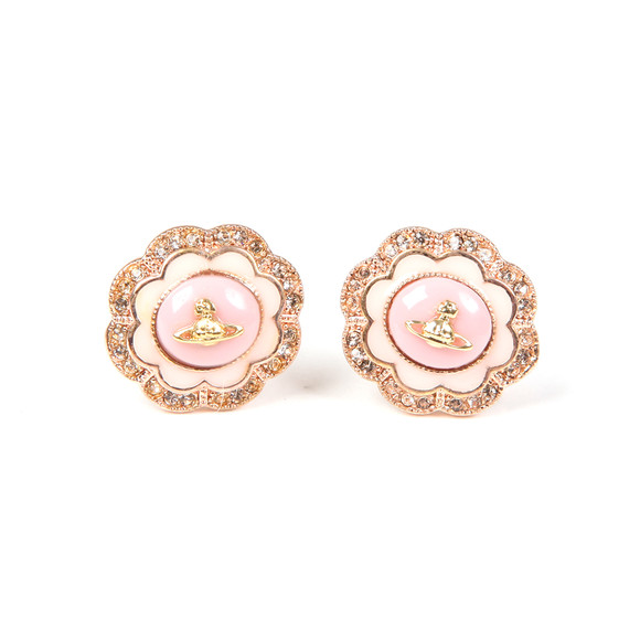 Vivienne Westwood Womens Pink Fiorella Stud Earrings main image