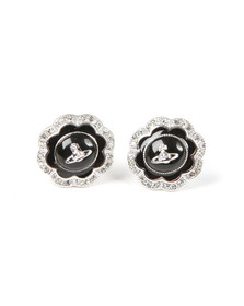 Vivienne Westwood Womens Silver Fiorella Stud Earrings