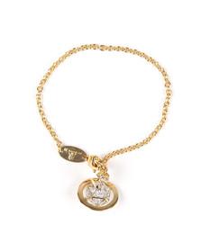 Vivienne Westwood Womens Gold Bessie Orb Bracelet