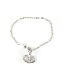 Vivienne Westwood Womens Silver Bessie Orb Bracelet