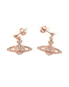 Vivienne Westwood Womens Pink Mini Bas Relief Drop Earrings
