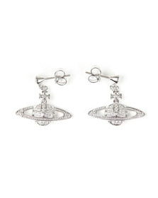 Vivienne Westwood Womens Silver Mini Bas Relief Drop Earrings