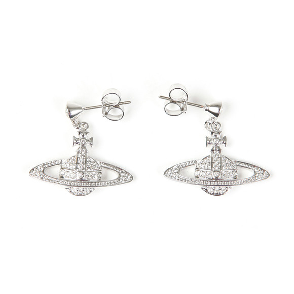 Vivienne Westwood Womens Silver Mini Bas Relief Drop Earrings main image
