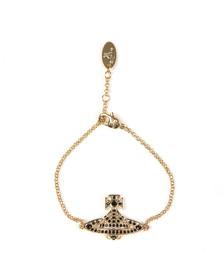 Vivienne Westwood Womens Gold Jack Bas Relief Bracelet