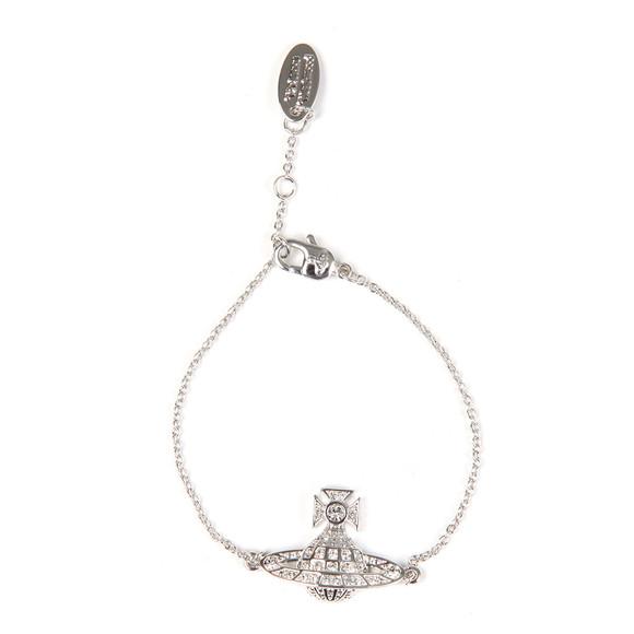 Vivienne Westwood Womens Silver Minnie Bas Relief Bracelet
