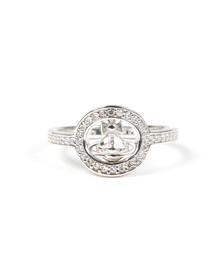 Vivienne Westwood Womens Silver Phillis Ring