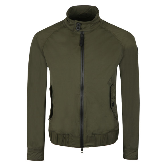 BOSS Mens Green Casual Osames Bomber Jacket