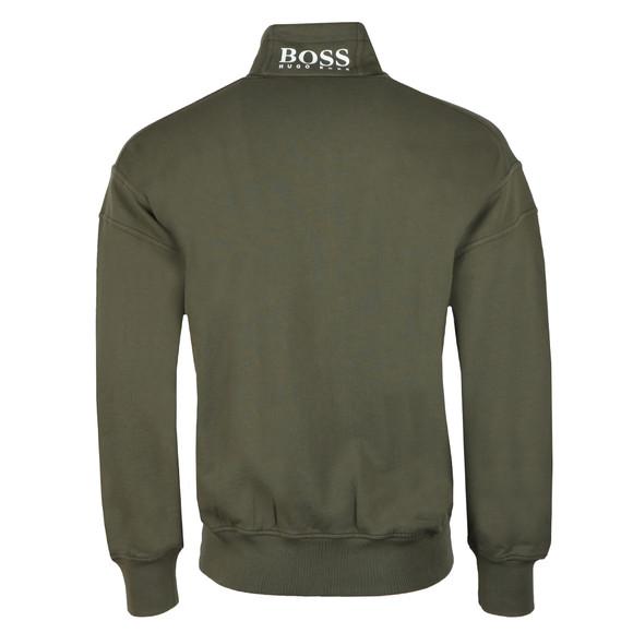 Boss Orange Mens Green Ztalone Half Zip Sweatshirt main image