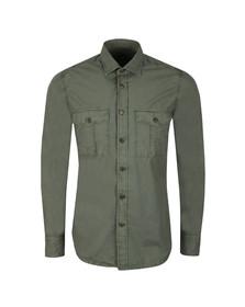BOSS Orange Mens Green Rebus Shirt