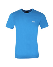 BOSS Mens Blue Athleisure Tee Plain T Shirt