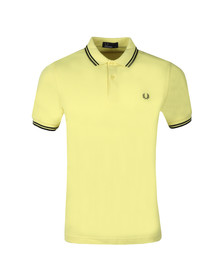 Fred Perry Mens Yellow Twin Tipped Polo Shirt