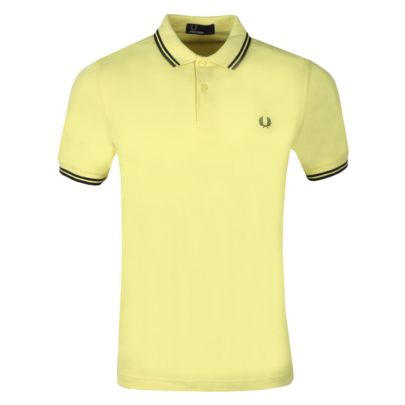 Fred Perry Mens Yellow Twin Tipped Polo Shirt main image