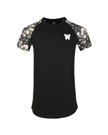 Good For Nothing Mens Black Floral Raglan T Shirt