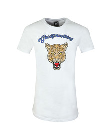 Good For Nothing Mens White Rage Leopard T Shirt