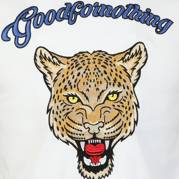Good For Nothing Mens White Rage Leopard T Shirt main image