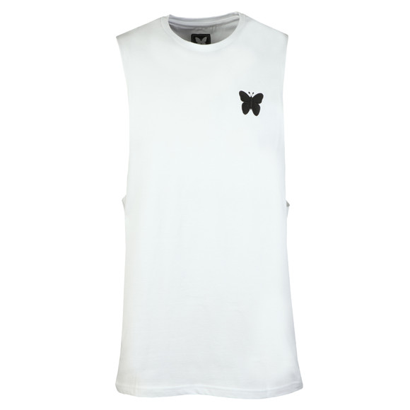 Good For Nothing Mens White Essential Cut Away Vest main image