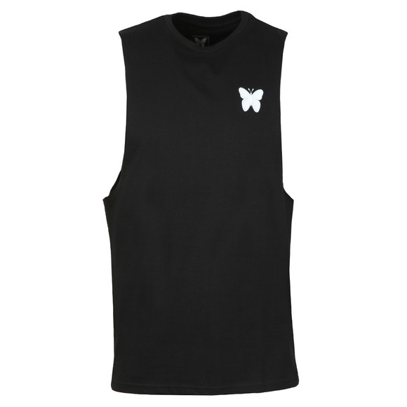 Good For Nothing Mens Black Essential Cut Away Vest main image