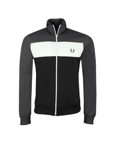 Fred Perry Sportswear Mens Grey Colour Block Track Jacket