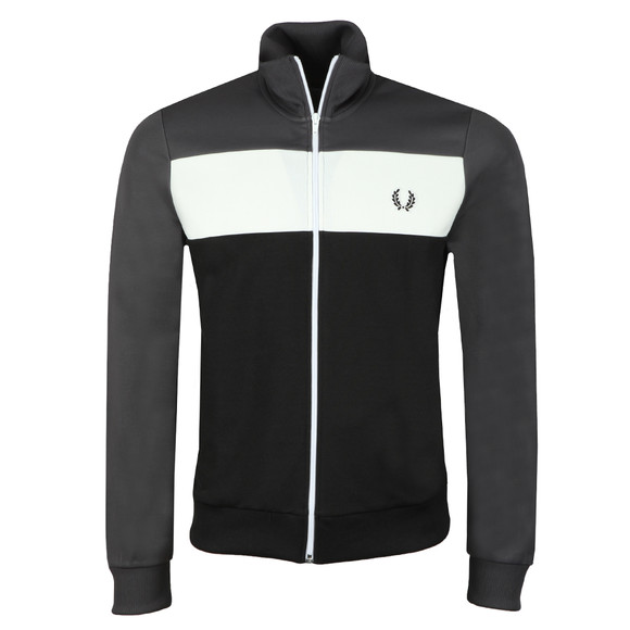 Fred Perry Sportswear Mens Grey Colour Block Track Jacket main image