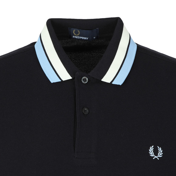 Fred Perry Mens Blue S/S Bold Tipped Polo main image