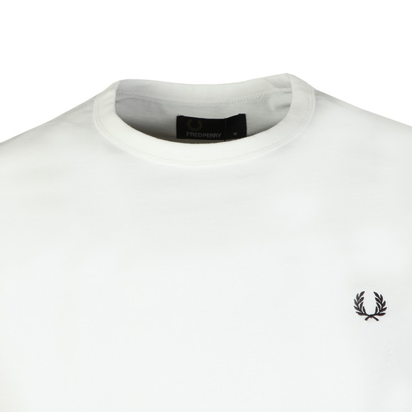 Fred Perry Sportswear Mens White S/S Ringer T-Shirt main image