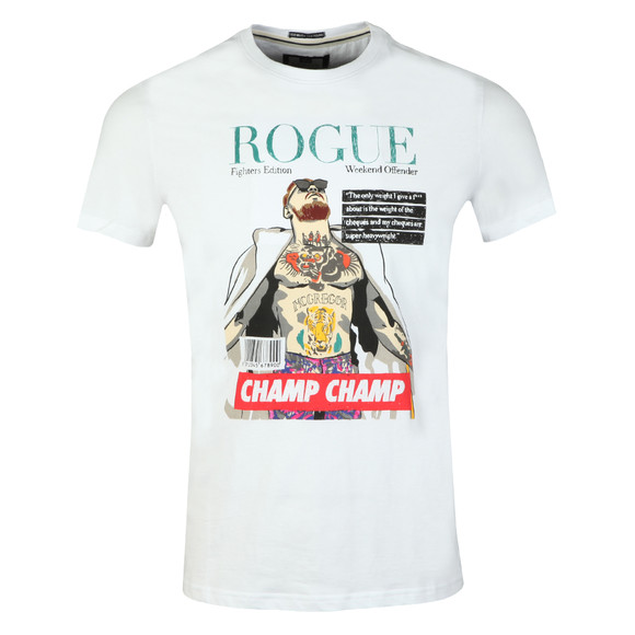 Weekend Offender Mens White Rogue Mcgregor T Shirt main image