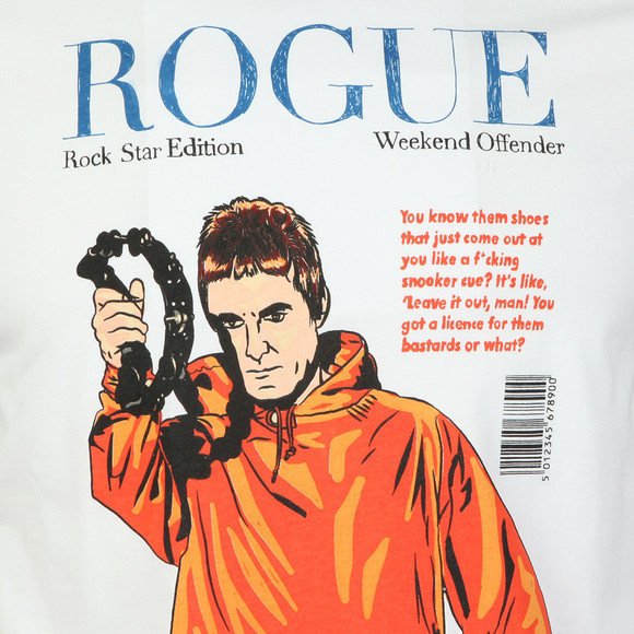 Weekend Offender Mens White Rogue Gallagher T Shirt main image