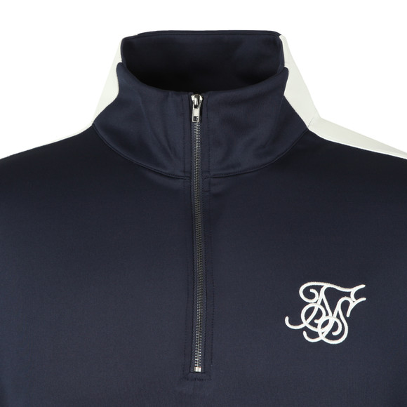 Sik Silk Mens Blue 1/2 Zip Sweat main image