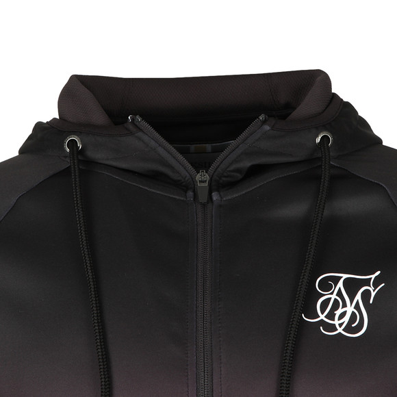 Sik Silk Mens Black Zip Through Hooded Sweat main image