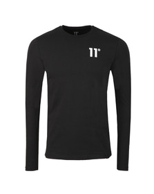 Eleven Degrees Mens Black L/S Muscle Fit Tee