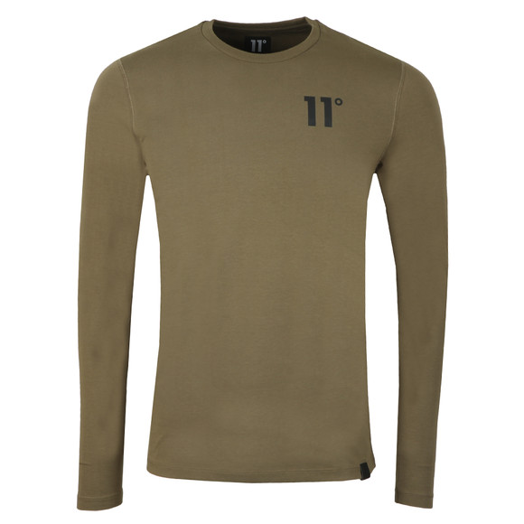 Eleven Degrees Mens Green L/S Muscle Fit Tee main image