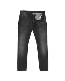 Nudie Jeans Mens Black Skinny Lin Jean
