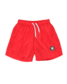 Good For Nothing Mens Red Essential Swim Shorts