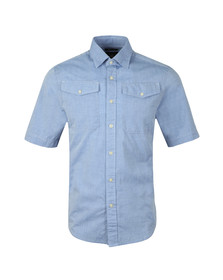 G-Star Mens Blue Bristum Utility SS Shirt