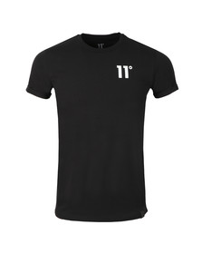 Eleven Degrees Mens Black S/S Muscle Fit Tee