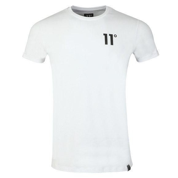 Eleven Degrees Mens White S/S Muscle Fit Tee main image