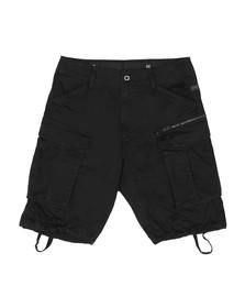G-Star Mens Black Rovic Zip Relaxed Short