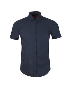 Hugo Mens Blue C-Jennino Short Sleeve Shirt