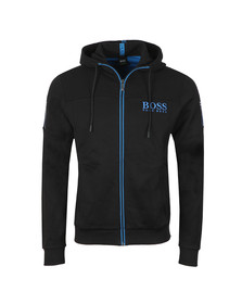 BOSS Green Mens Black Saggy Hoody