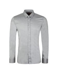 HUGO Mens Grey Elisha 01 Slim Shirt