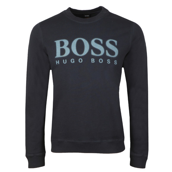 BOSS Mens Blue Casual Wallker Sweatshirt main image
