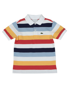 Lacoste Boys White Boys PJ3583 Stripe Polo Shirt