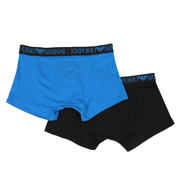 Emporio Armani Mens Black Endurance 2 Pack Trunks main image