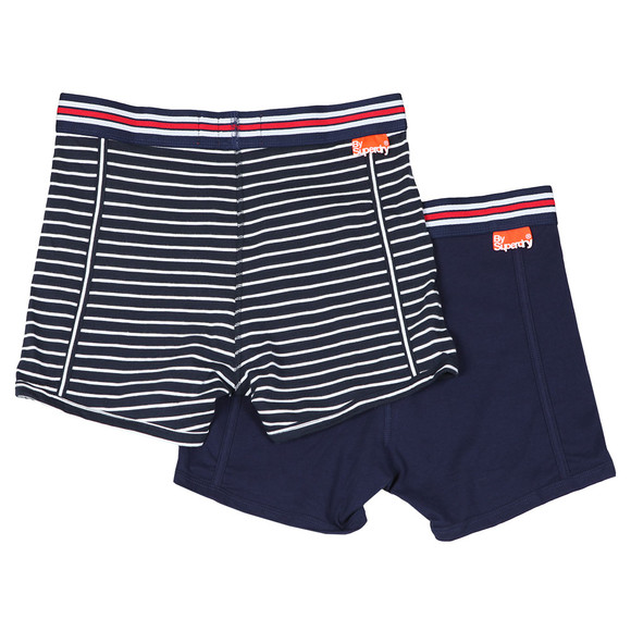 Superdry Mens Blue Sport Boxer Double Pack main image