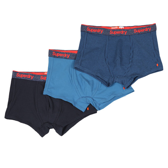 Superdry Mens Blue OL Triple Pack Sport Trunks main image