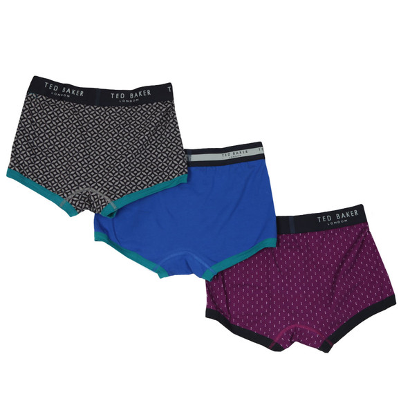 Ted Baker Mens Multicoloured Matches 3 Pack Boxer Set main image