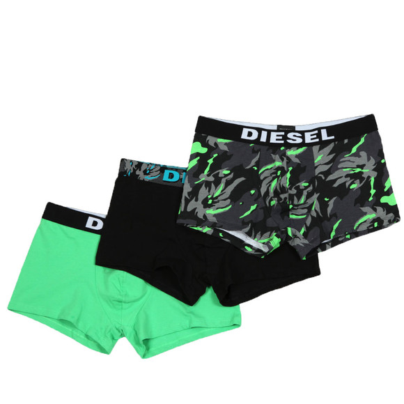 Diesel Mens Black UMBX Shawn 3 Pack Boxer main image