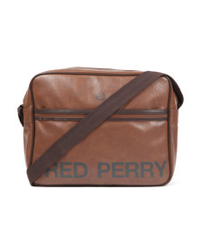 Fred Perry Mens Brown Classic Logo Shoulder Bag